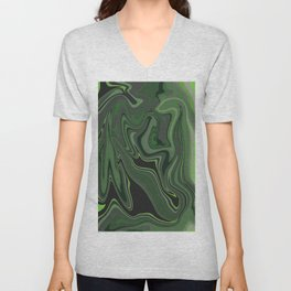 Distorted stripes in colour 1 Unisex V-Neck