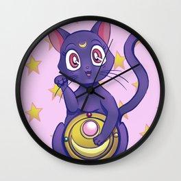 Luna maneki neko Wall Clock
