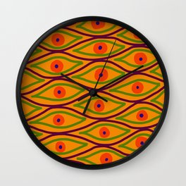 Their Eyes - Yellowed Orange Wall Clock