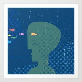 fishhead Art Print