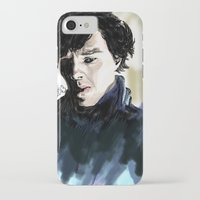 sherlock holmes iPhone & iPod Cases featuring Sherlock Holmes by Abbie James