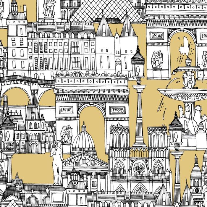 Paris toile gold Leggings