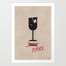 Packing Pirate Art Print