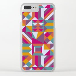 Geometric love Clear iPhone Case
