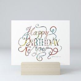 Lettering, Happy Birthday to you Mini Art Print