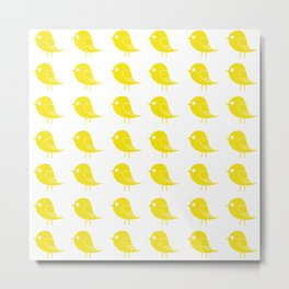 Yellow Birdies Metal Print
