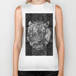 mandala tiger marble Biker Tank