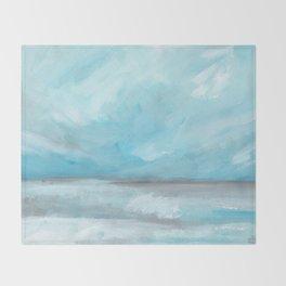 Whirlwind - Stormy Ocean Seascape Throw Blanket