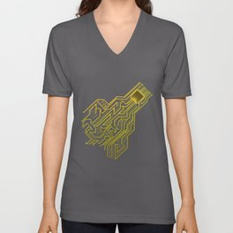 CPU heart for Engineers, Geeks and IT professionals Unisex V-Neck