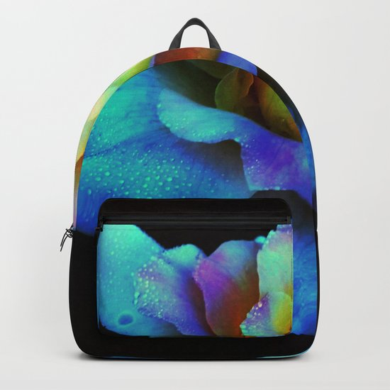 Pastel Rainbow Rose Backpack
