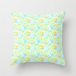 Green fruits Throw Pillow