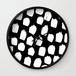 Monochrome Big Blobs Wall Clock