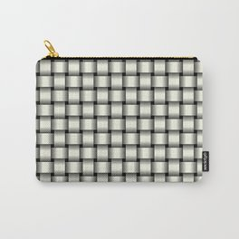 Small Ivory Weave Carry-All Pouch