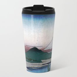 The Tama River by Hiroshige Travel Mug