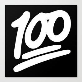 100 EMOJI WHITE Canvas Print