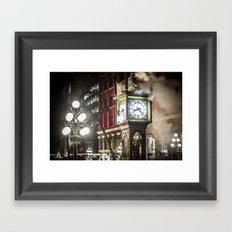 Steam Clock  Framed Art Print