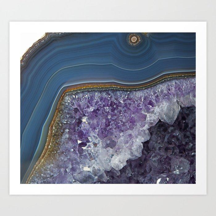 Amethyst Geode Agate Art Print