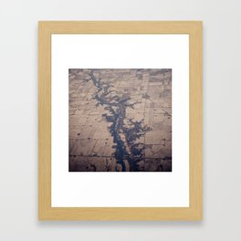 cutting through Framed Art Print