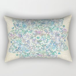 Mermaid Dreams Mandala Rectangular Pillow