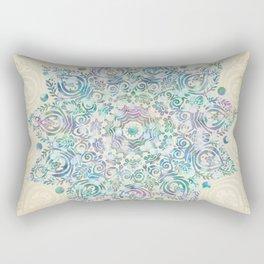 Mermaid Dreams Mandala Rectangular Pillow
