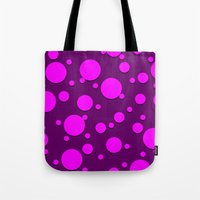 polka dots Tote Bags featuring Polka Dots by Lyle Hatch