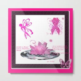 BC Know The Risk Butterfly Metal Print