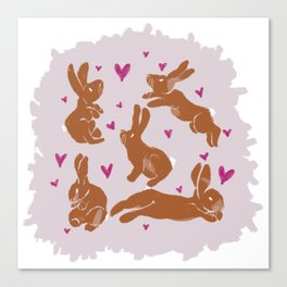 Bunny Love - Easter edition Canvas Print