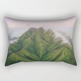 Clouds over the Koʻolau Mountains on Oahu Rectangular Pillow
