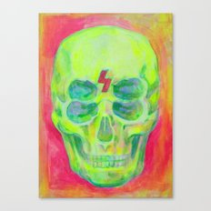 the 4i skull - acrylic on canvas Canvas Print