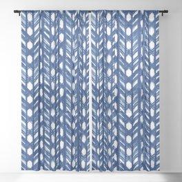 Shibori Lattice Sheer Curtain