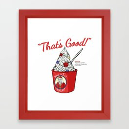 The Frogurt Is Also Cursed Framed Art Print