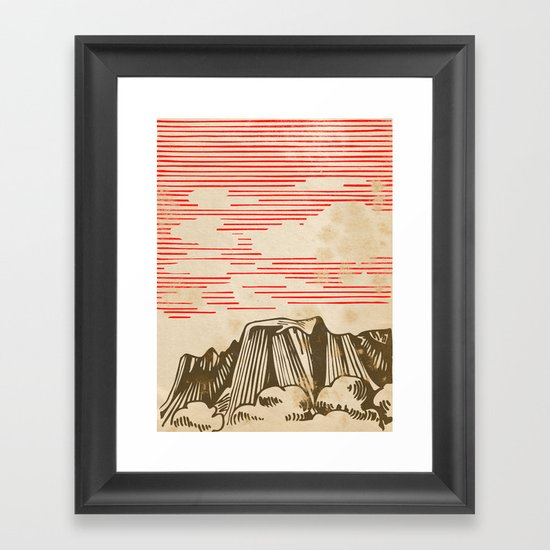 Carpathian mountains Framed Art Print