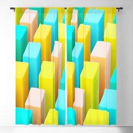 Color Blocking Pastels Blackout Curtain