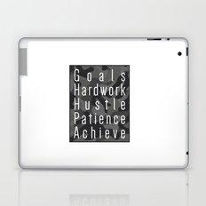 Way to success - goals, hardwork, hustle, patience, achieve Laptop & iPad Skin