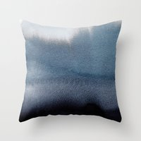 georgiana paraschiv Throw Pillows featuring In Blue by Georgiana Paraschiv