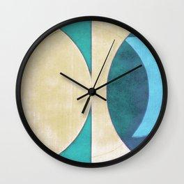 Waxing Crescent Wall Clock