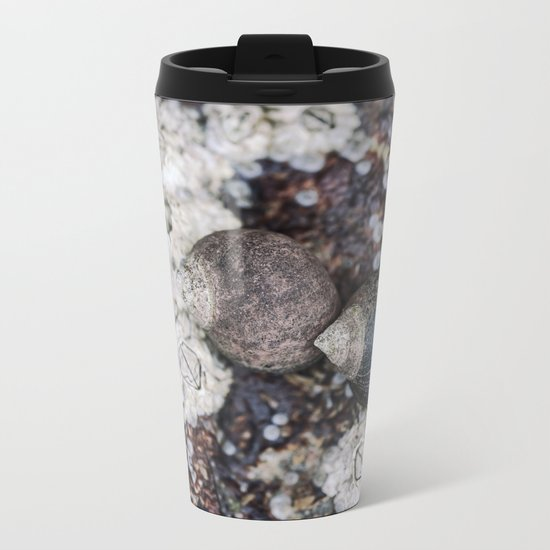 Periwinkles and Barnacles on a rock Metal Travel Mug