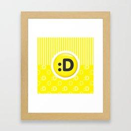 Yellow Writer's Mood Framed Art Print