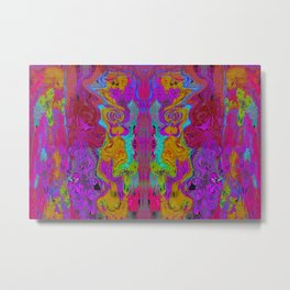 Twisted Bug Face (Dark) (Psychedelic) Metal Print