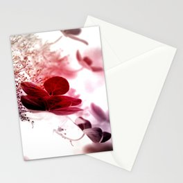 climbing hydrangea red Stationery Cards