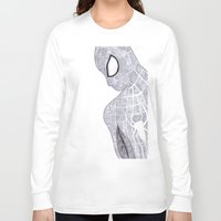 superhero Long Sleeve T-shirts featuring superhero by Art_By_Sarah