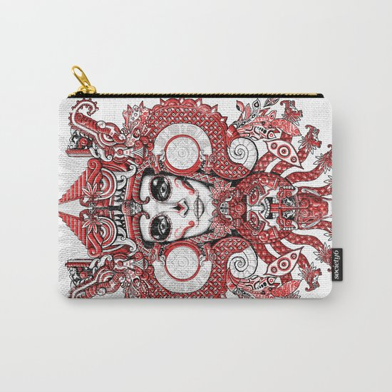 Red Serpent Queen Carry-All Pouch