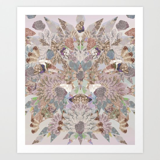 Pastel Powder Gems  Art Print