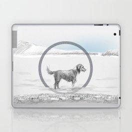 dog wading in fjord Laptop & iPad Skin