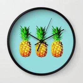 Fresh pineapples Wall Clock