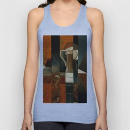 """Juan Gris """"Playing Cards and Glass of Beer"""" Unisex Tank Top"""