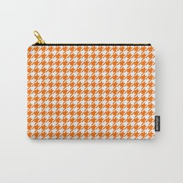Houndstooth Amber Glow Orange Carry-All Pouch