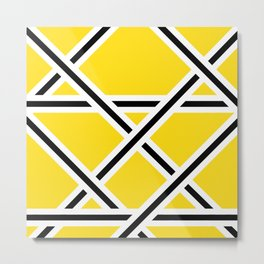 Criss-Cross Metal Print