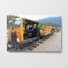 At the Rockwood Depot of the Durango & Silverton NG Railroad Metal Print