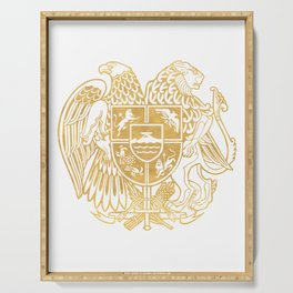 ARMENIAN COAT OF ARMS - Gold Serving Tray